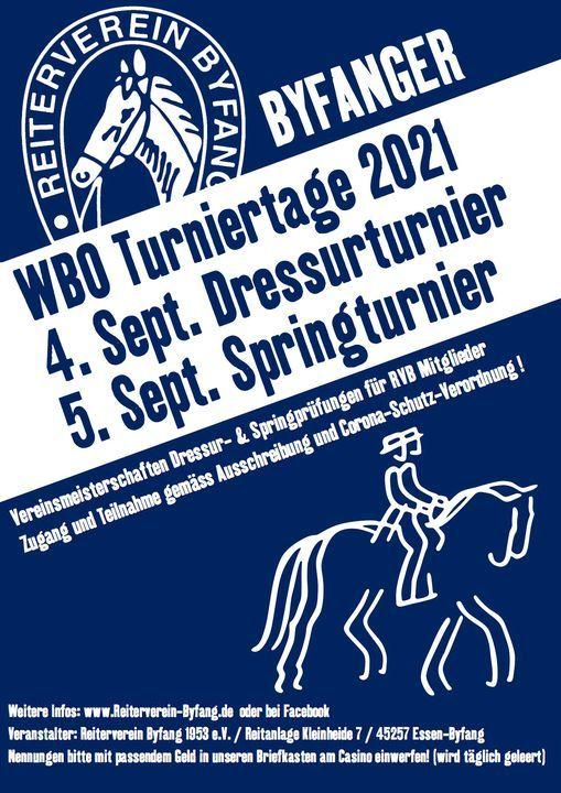 WBO 4.9. DRESSUR und 5.9. SPRING Turnier 2021, 4 September | Event in Essen | AllEvents.in