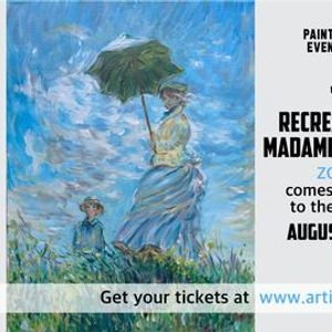 2 Day Painting Event on Zoom - Recreate a Masterpiece - Madame Monet and Her Son