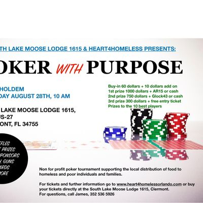 Poker with purpose August 28th tournament