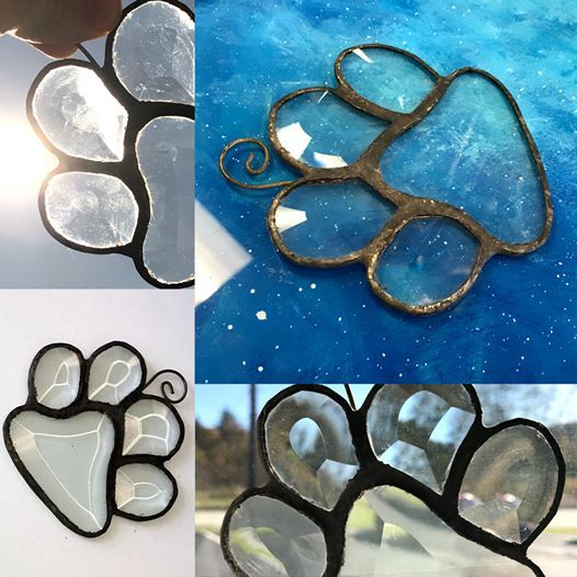 Paw Print Glass Workshop (4 x 4)