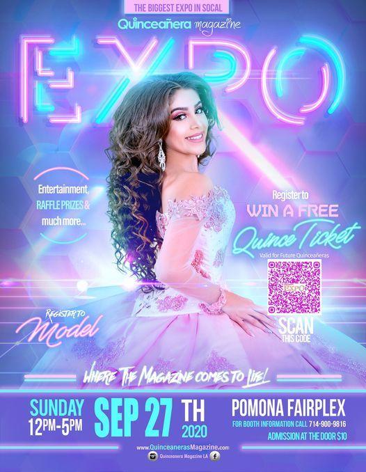 Quinceanera Expo Sep 27th 2020 Los Angeles at Pomona Fairplex