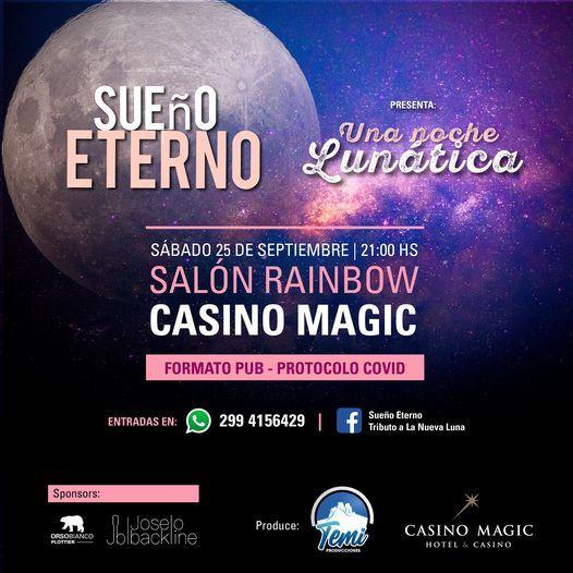 SUEÑO ETERNO - UNA NOCHE LUNATICA, 25 September | Event in San Martín De Los Andes | AllEvents.in