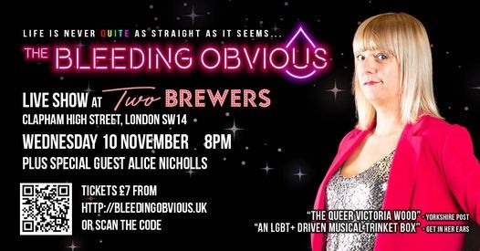 The Bleeding Obvious at The Two Brewers, London, 10 November   Event in London   AllEvents.in
