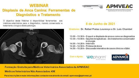 Webinar – Displasia de Anca Canina: Ferramentas de Diagnóstico e Tratamento, 8 June | Event in Lisbon | AllEvents.in