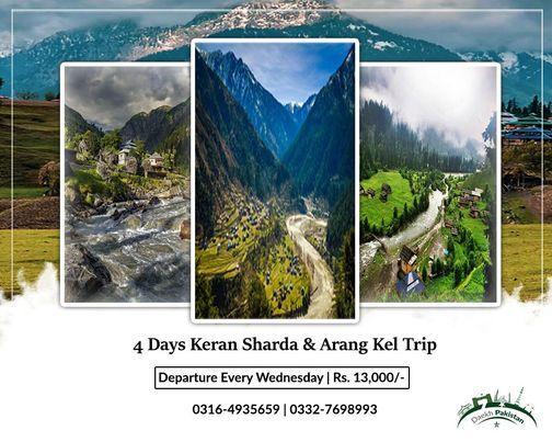 4 Days Trip To Neelum Valley Kutton keran Upper Neelum Sharda & Arang Kel, 19 May | Event in Lahore | AllEvents.in