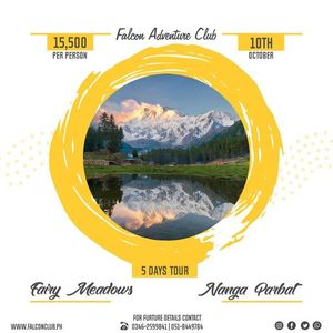 5 Days trekking to Fairy Meadows & Nanga Parbat base camp on 10th Oct