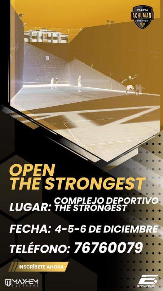 Open The Strongest 2020, 4 December | Event in La Paz | AllEvents.in