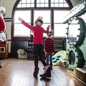 Santa Visits All Aboard at the PumpHouse