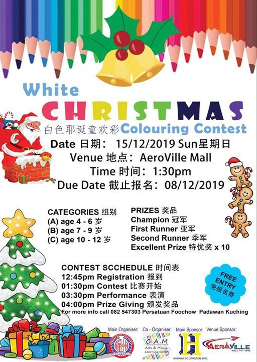 White Christmas Colouring Contest
