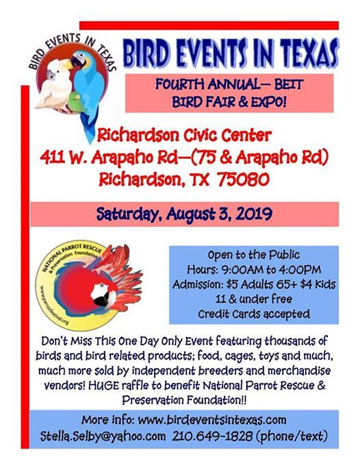 Richardson Exotic Bird Fair | Richardson
