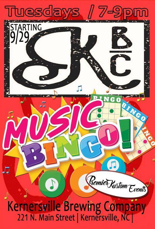 Music Bingo at KBC | Event in Kernersville | AllEvents.in