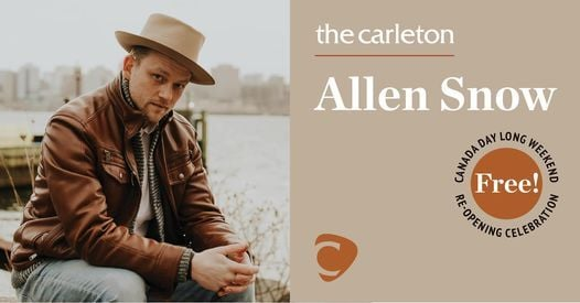 Allen Snow Live at The Carleton on Canada Day!, 1 July | Event in Halifax | AllEvents.in