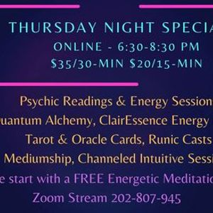 Thursday Night Specials Online - Readings and Healings