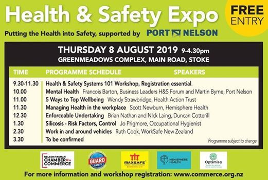 Health & Safety Expo - supported by Port Nelson