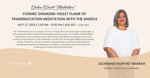 Online/Onsite Meditation: Cosmic Diamond Violet Flame Of Transmutation Meditation With The Angels, 27 September