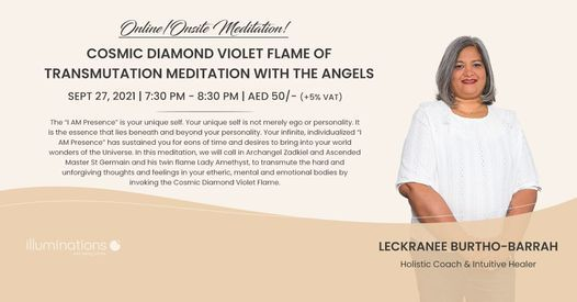 Online/Onsite Meditation: Cosmic Diamond Violet Flame Of Transmutation Meditation With The Angels   AllEvents.in