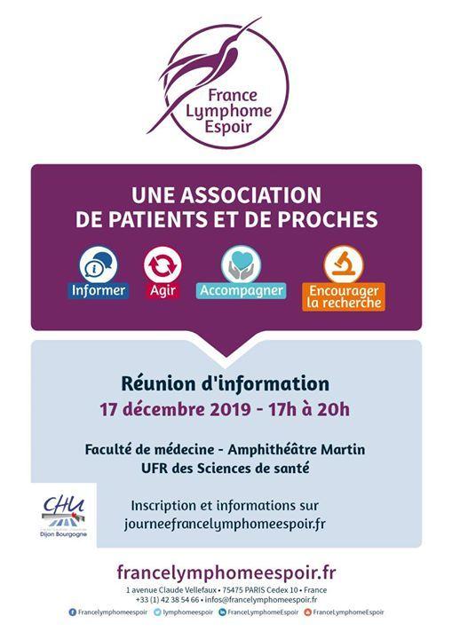Runion dinformation sur les Lymphomes - Dijon