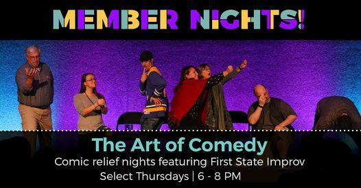 The Art of Comedy - Comic relief nights featuring First State Improv, 18 March | Event in Wilmington | AllEvents.in