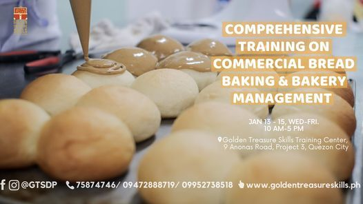 Comprehensive Commercial Bread Making and Bakery Management Operation, 13 January | Event in Quezon City | AllEvents.in