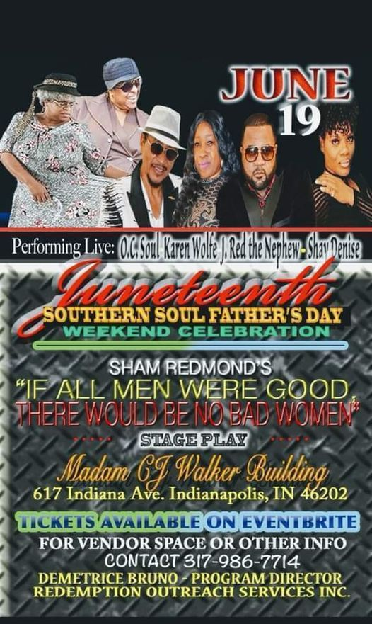 Juneteenth Southern Soul Stage Play & Celebration, 11 September | Event in Indianapolis | AllEvents.in
