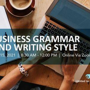 Business Grammar & Writing Style