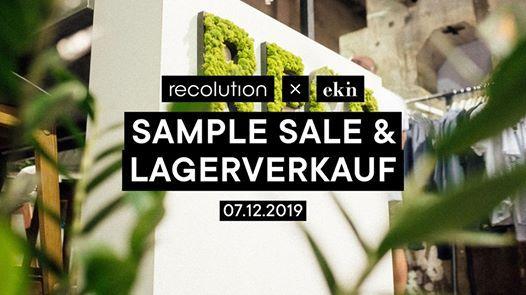recolution x ekn Sample Sale & Lagerverkauf