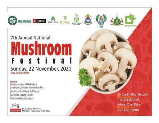 7th National Mushroom Festival 2020, 22 November | Event in Gujranwala | AllEvents.in