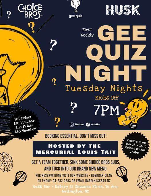 Choice Bros Gee Quiz Night