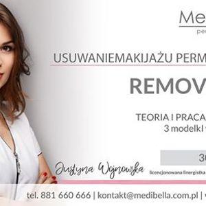 Usuwanie makijau permanentnego Remover PML
