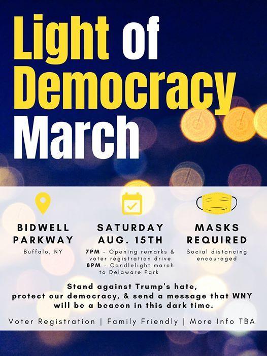 Light Of Democracy March At Bidwell Parkway Buffalo Ny Buffalo