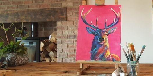 'Bright Stag' Painting  workshop & Afternoon Tea @Sunnybanks, 27 November | Event in Doncaster | AllEvents.in