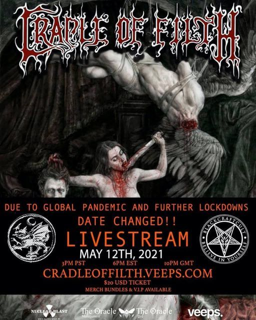 Cradle of Filth - Live Stream, 20 February | Online Event | AllEvents.in