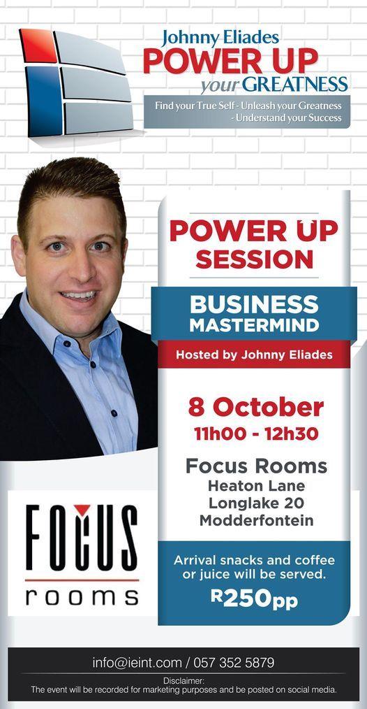 Power Up Session Business Mastermind - R250pp, includes snacks & beverages, 8 October | Event in Sandton