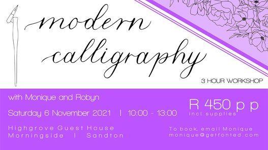 Beginner Modern Calligraphy Workshop, 6 November | Event in Sandton | AllEvents.in