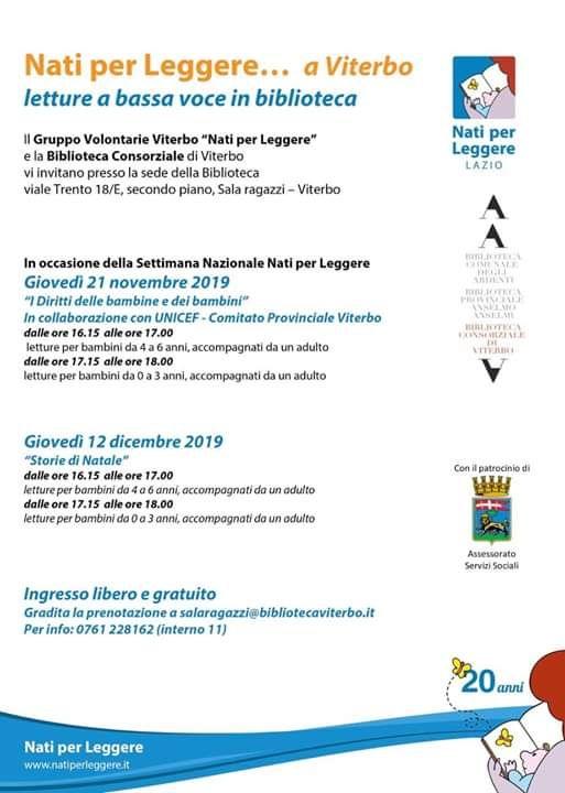 Nati per Leggere in Biblioteca a Viterbo