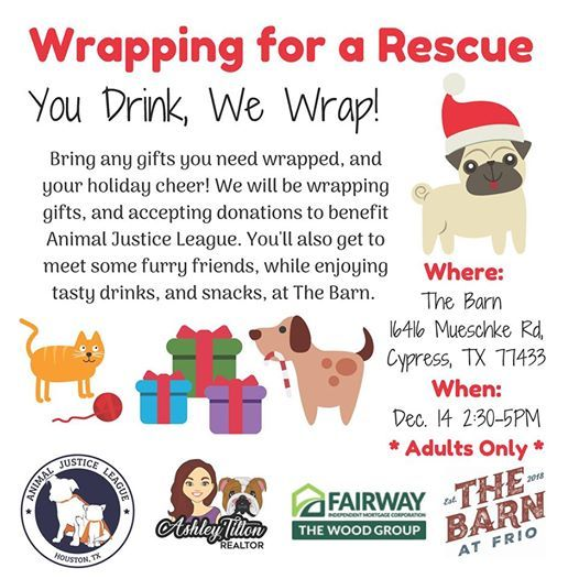Wrapping for a Rescue Gift wrapping and pet rescue