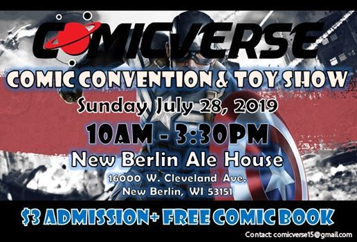 Comic Convention and Toy Show at New Berlin Ale House, New