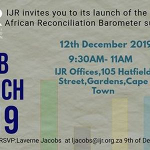 2019 South African Reconciliation Barometer Launch