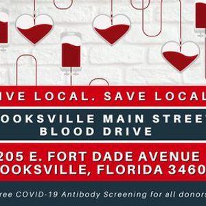 Brooksville Main Street Blood Drive