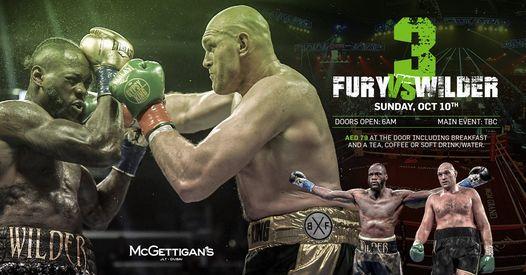 Fury vs Wilder III @ McGettigan's JLT, 10 October   Event in Dubai   AllEvents.in