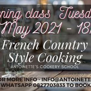 French Country Style Cooking Evening Class