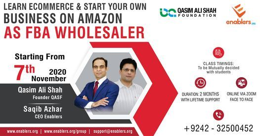 Learn E-Commerce as FBA Amazon Wholesaler, 7 November | Event in Lahore | AllEvents.in