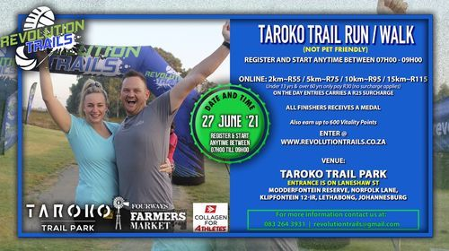 Taroko Trail Run/Walk, 27 June   Event in Kempton Park   AllEvents.in