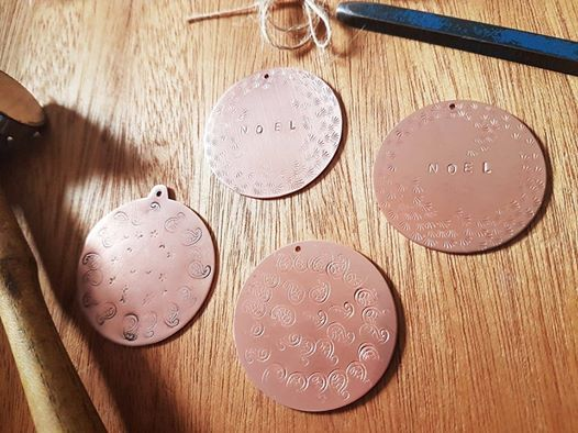 Copper Christmas Decoration making.