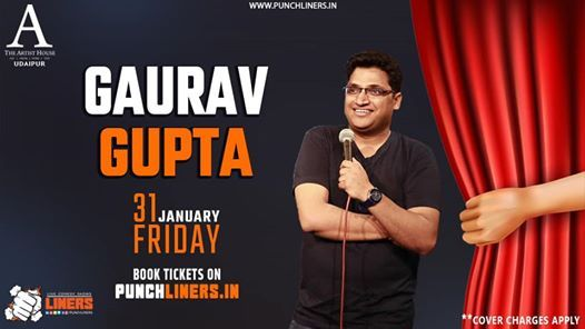 Punchliners Comedy Show- Gaurav Gupta Live in Udaipur