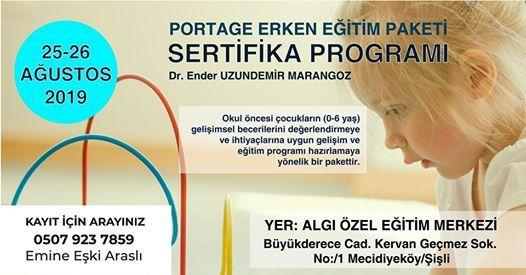 Portage Erken Eitim Paketi Sertifika Program