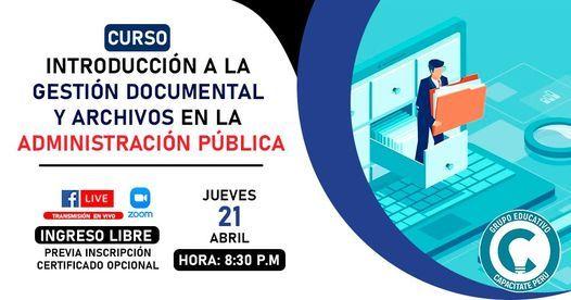 Curso Gratuito: Introducción a la Gestión Documental y Archivos, 19 May | Event in Lince | AllEvents.in
