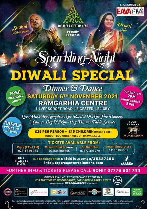 Sparkling Night Diwali Special Dinner & Dance, 6 November | Event in Leicester | AllEvents.in