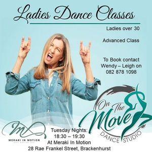 On the Move ladies dance classes - Advanced class