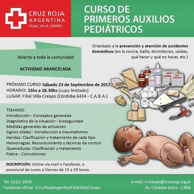Curso de RCP en Cruz Roja (viernes 16-10-20) - Duracin 4 hs.